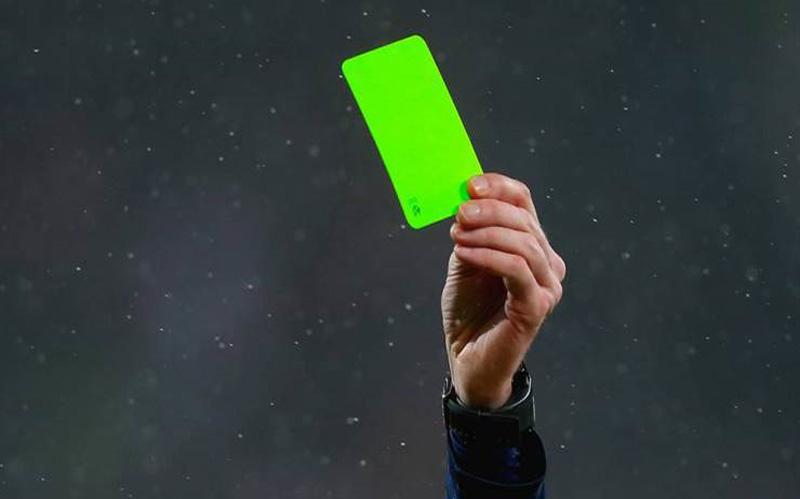 зелен картон