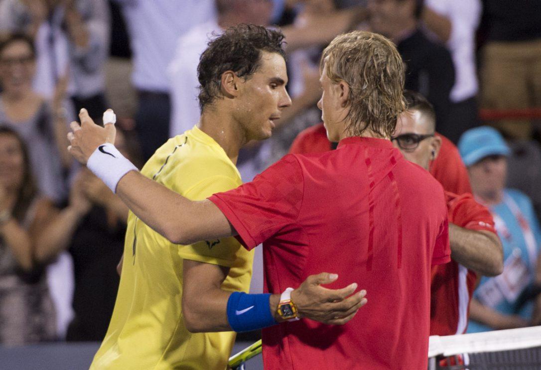 Домашниот тенисер Шаповалов го шокираше Надал во 1 8 финалето на Мастерсот во Монтреал  видео фото